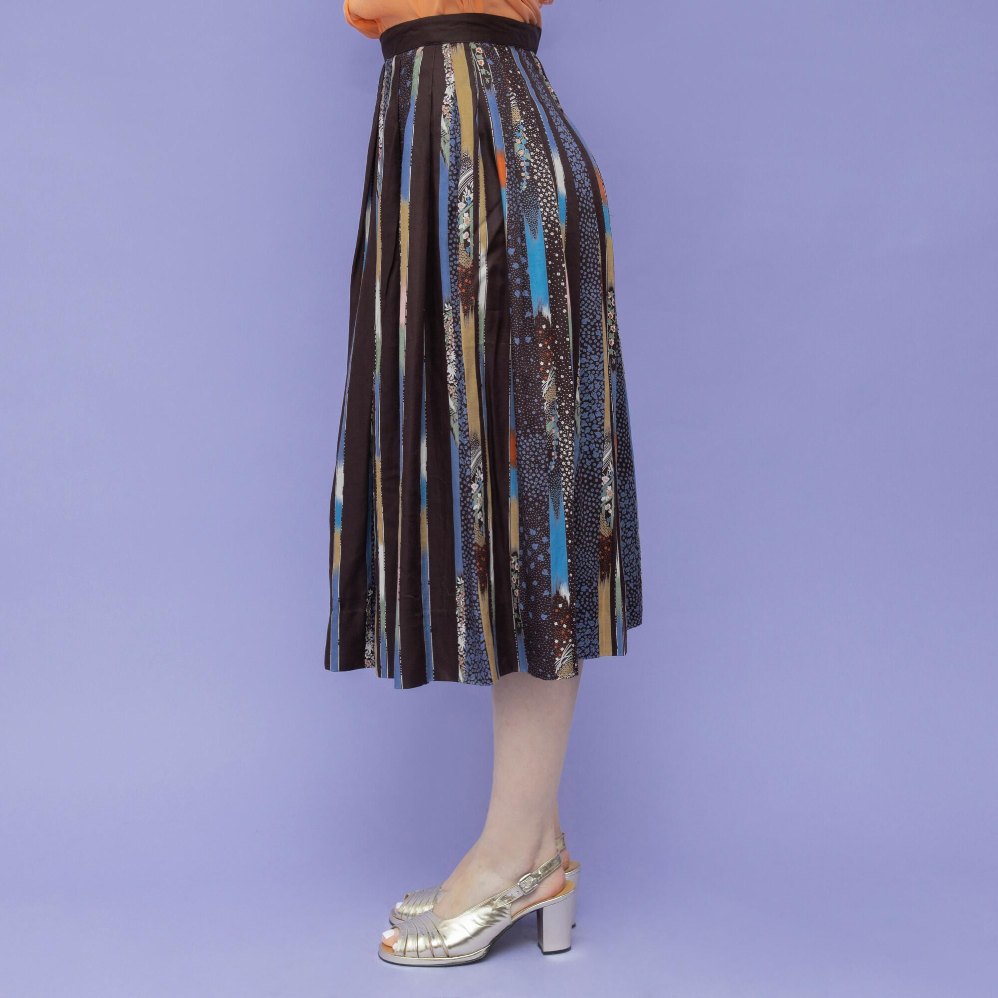 Brązowa spódnica z wiskozy - KEX Vintage Store | JestemSlow.pl