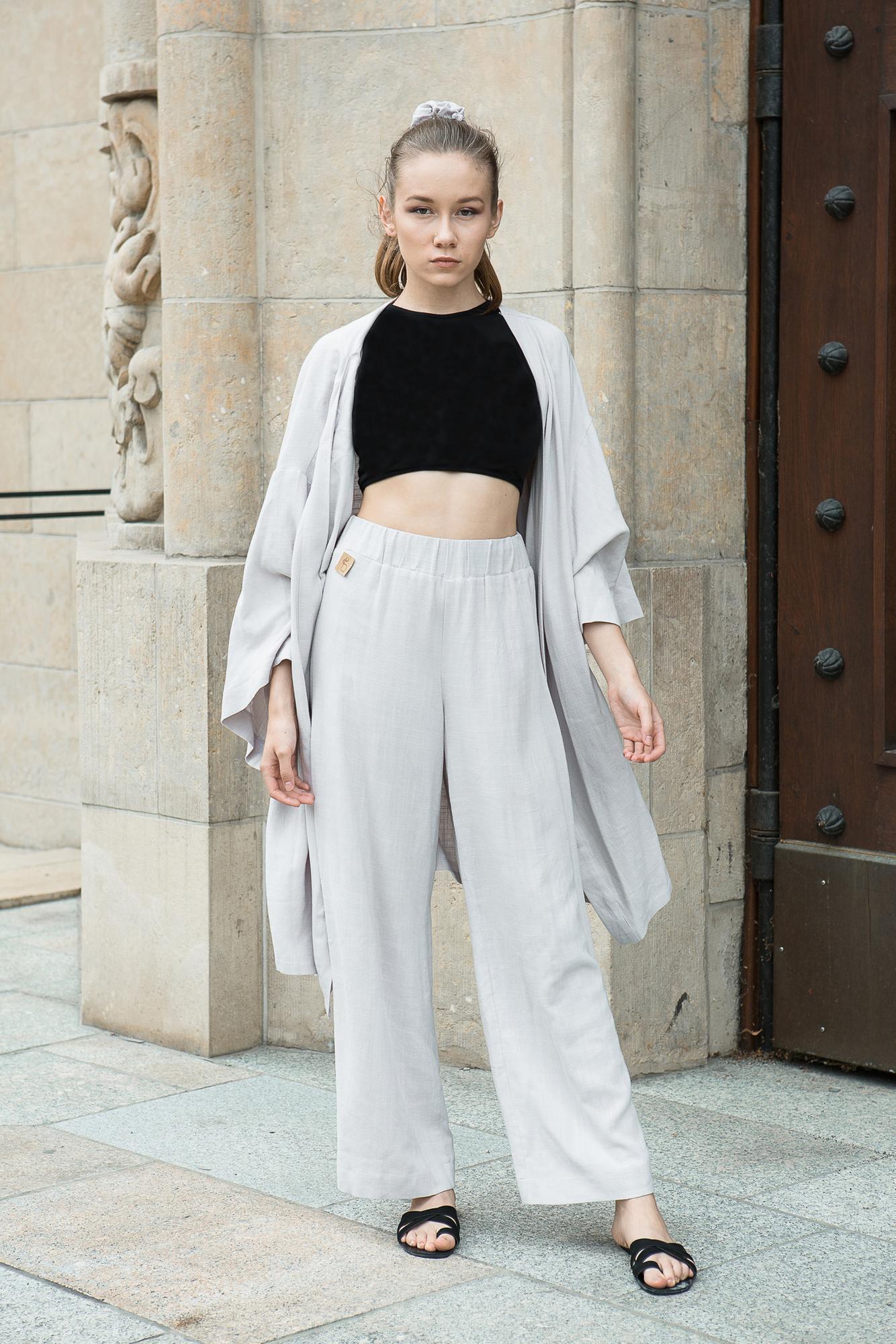 spodnie COMO z lnu i wiskozy / - breath.clothing