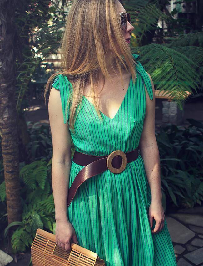 Sukienka boho HUNNY BUNNY maxi zielony - Cocoon