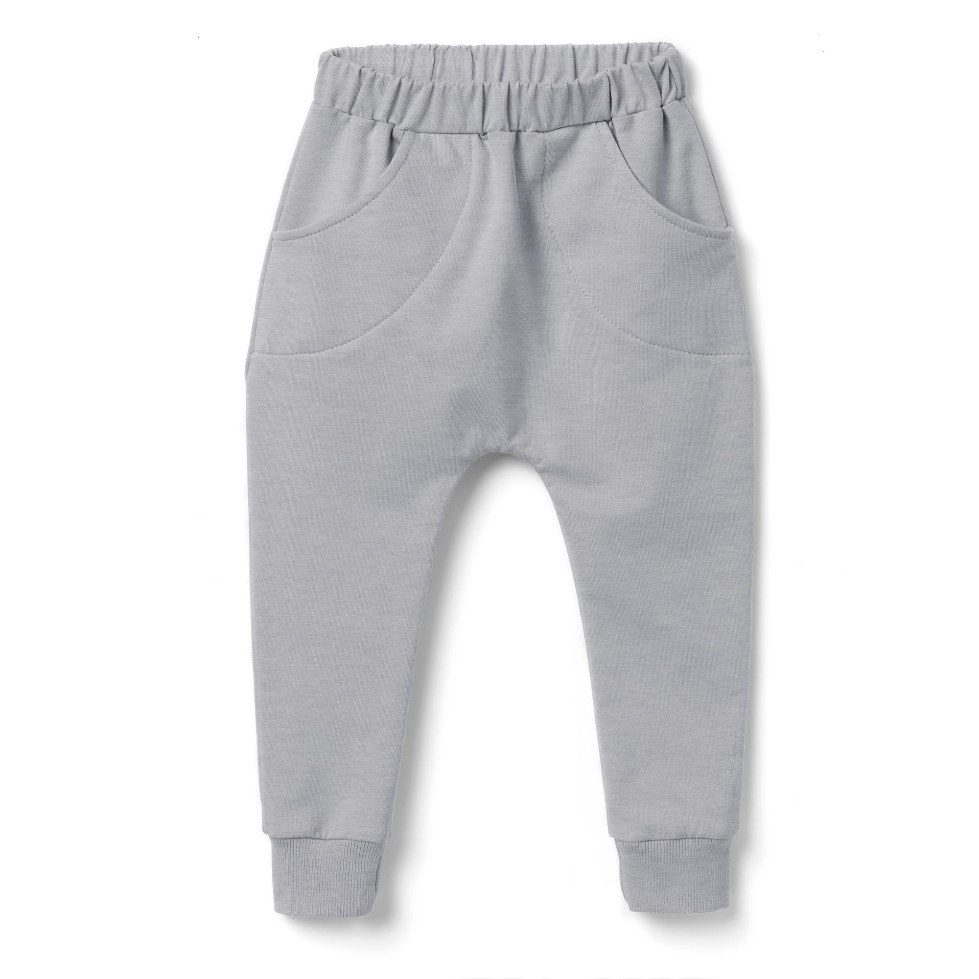 Spodnie dziecięce pumpy-szare - Bubalove