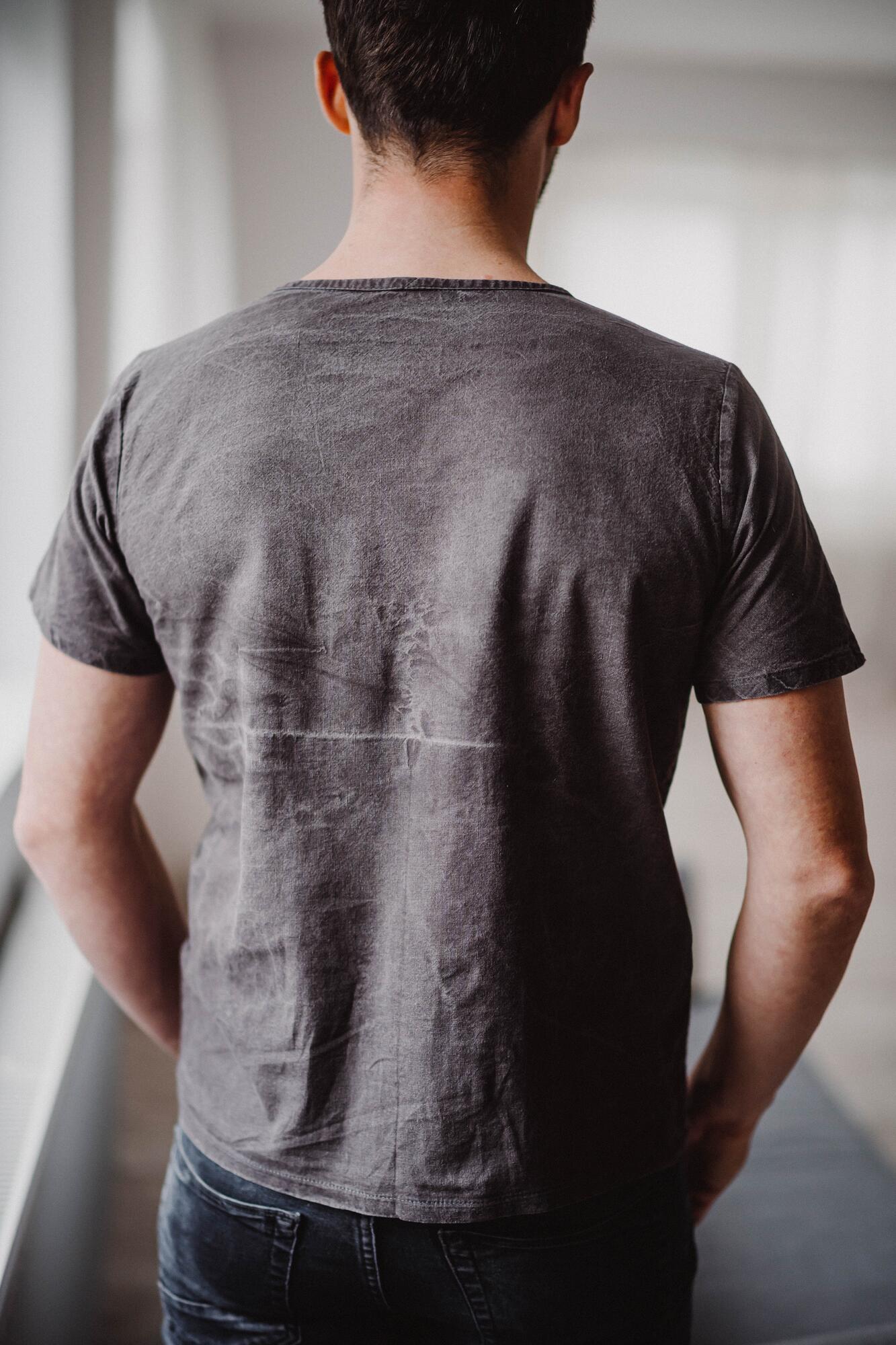 T-shirt z tkaniny konopnejCOTTON SUMMER - Waste Me Not   JestemSlow.pl