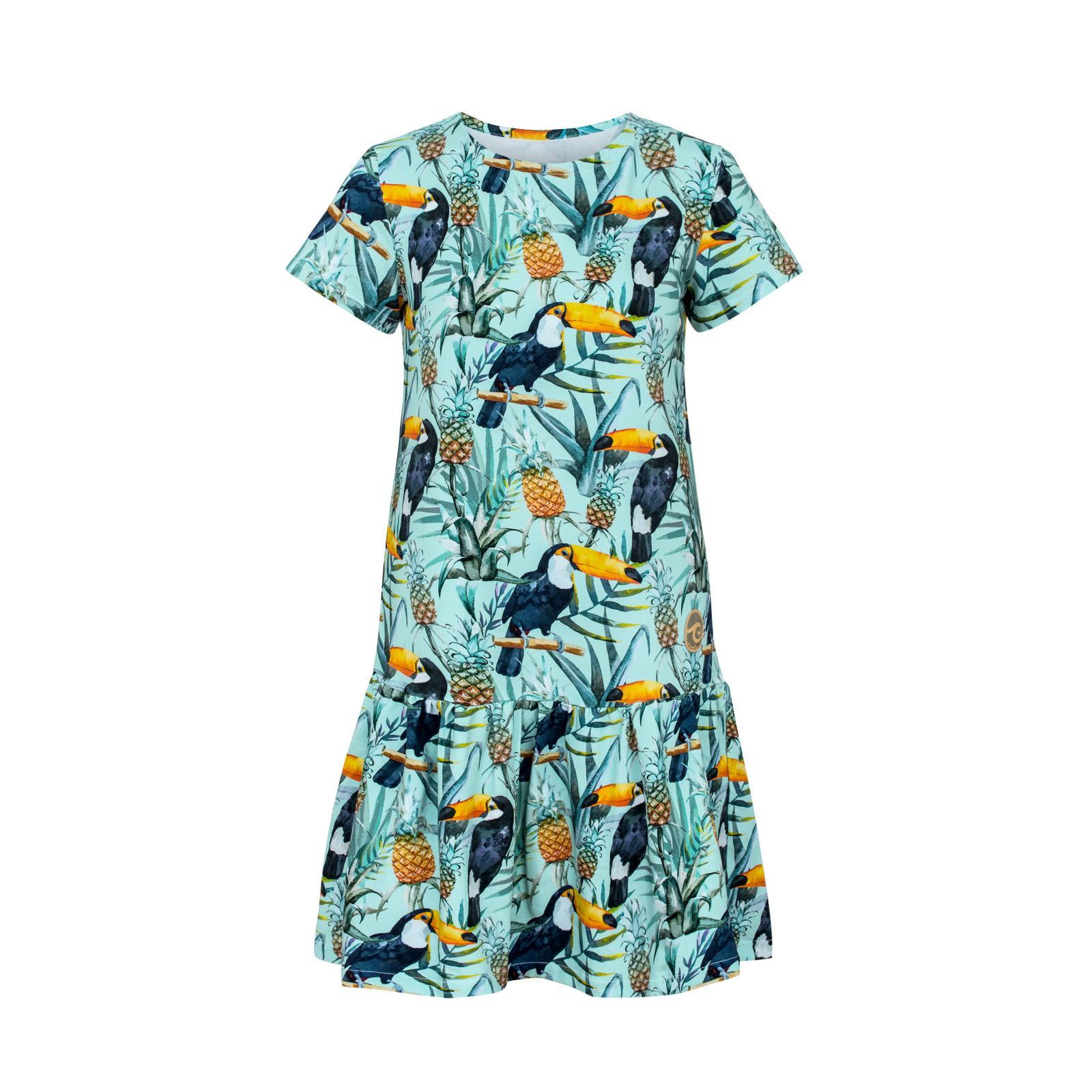 Candy dress -sukienka na lato w tukany,- krótki rękaw -  Evokaii