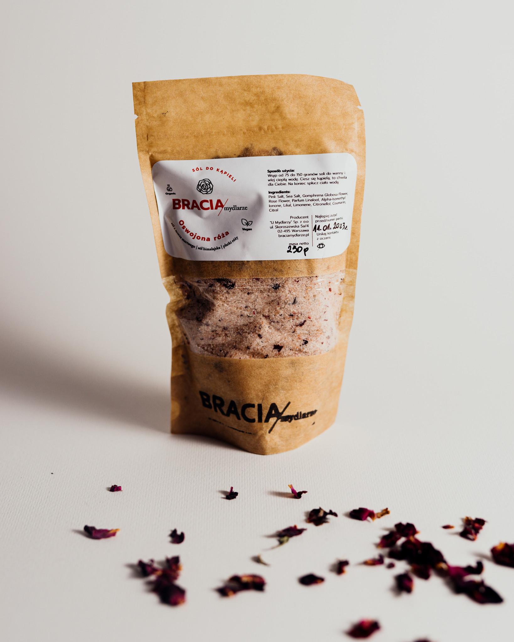 Oswojona róża   sól do kąpieli - Bracia Mydlarze   JestemSlow.pl
