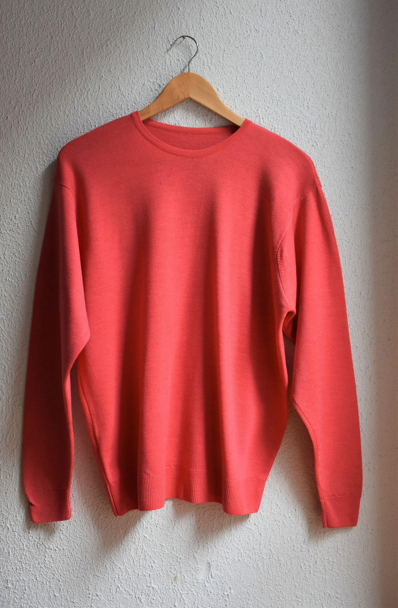 Pomarańczowy sweter oversize z wełny jagnięcej - PONOŚ SE vintage shop | JestemSlow.pl