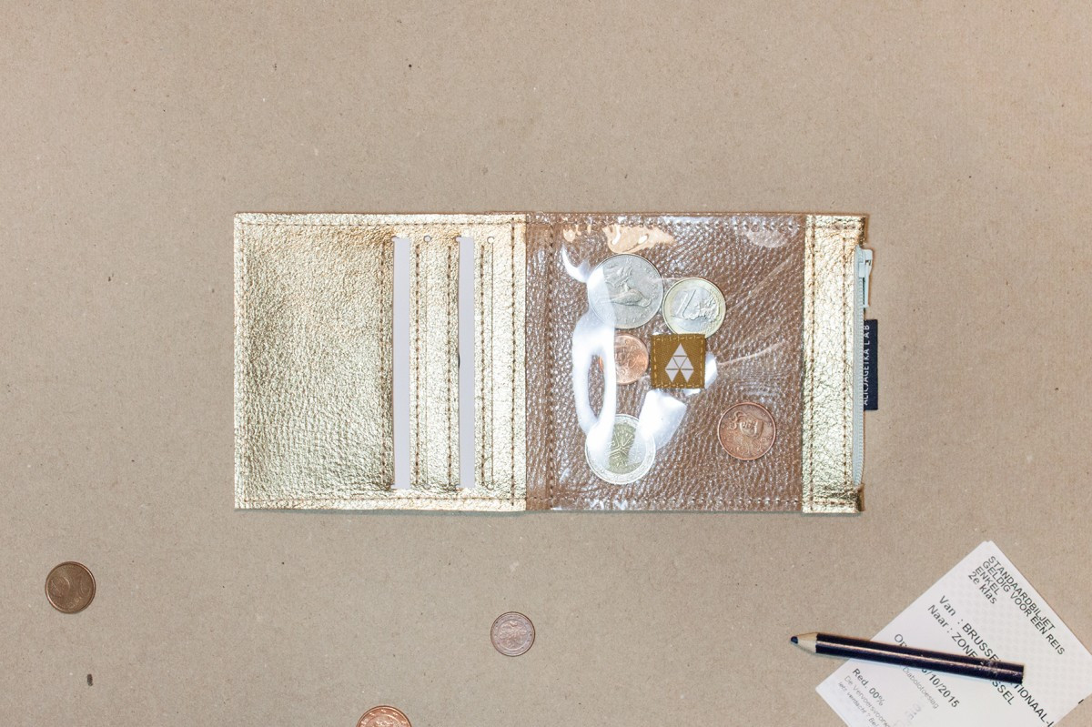 Portfel Pocket MIDI Gold - Alicja Getka lab