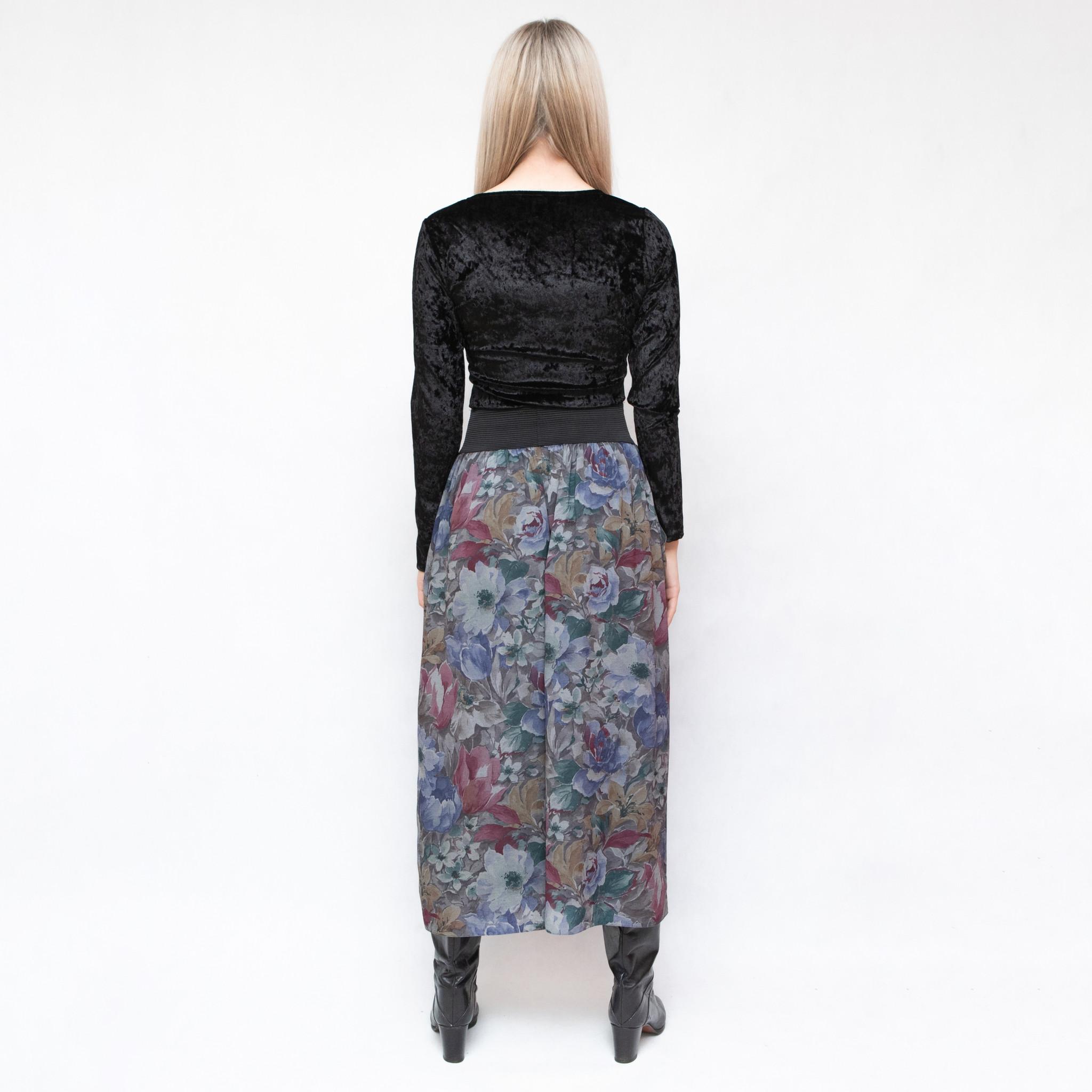 Spodnie culottes w kwiaty z gumą - KEX Vintage Store   JestemSlow.pl