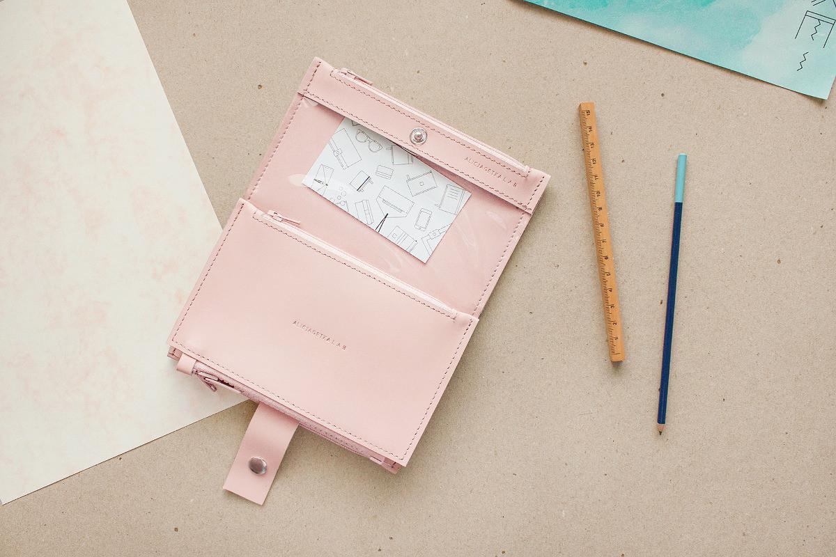 Portfel Pocket BIG Pale Pink - Alicja Getka lab